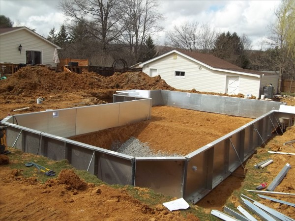 Vinyl Pool Construction : Vinyl liner inground pool construction by s r pools